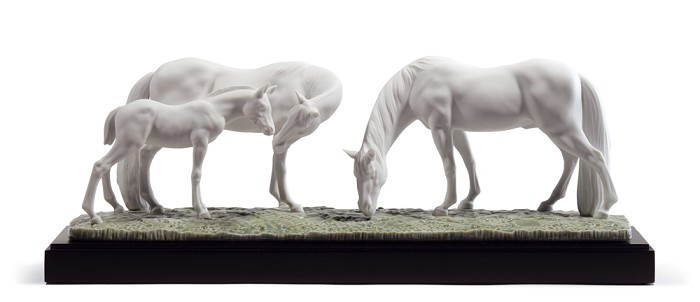 Lladro HORSES IN THE MEADOW