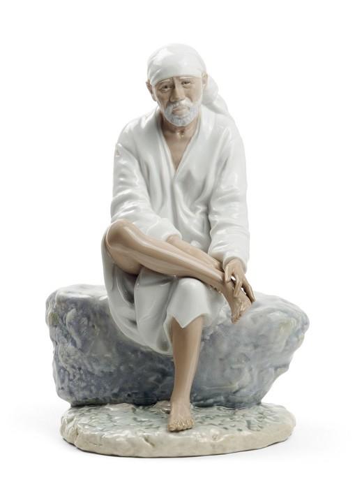 LladroSai BabaPorcelain Figurine