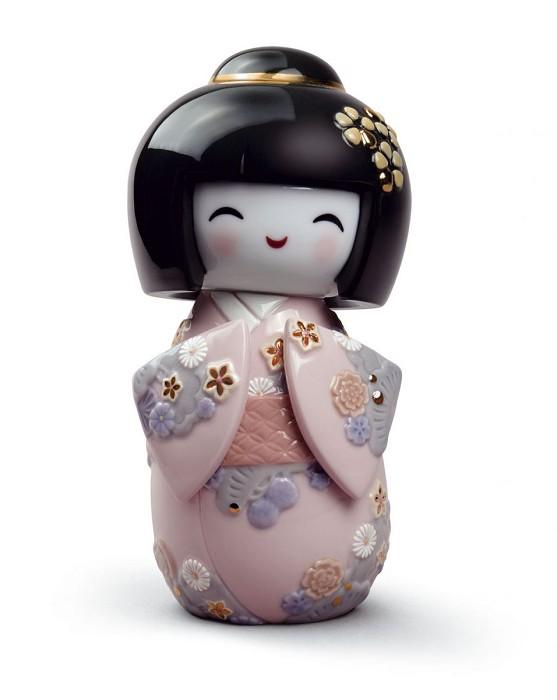 LladroKokeshi IPorcelain Figurine