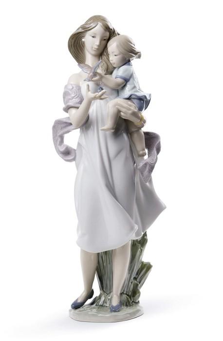 LladroLook Mommy!Porcelain Figurine