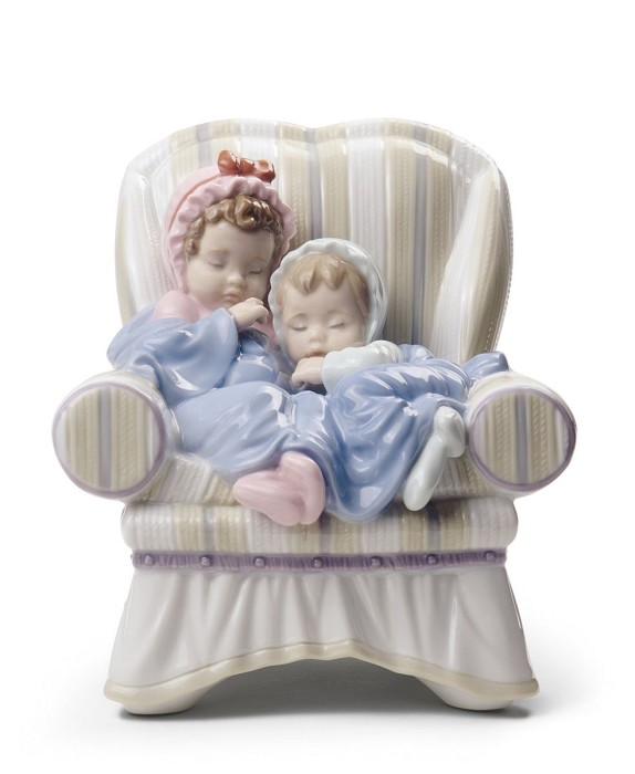 Lladro MY TWO LITTLE TREASURES Porcelain Figurine