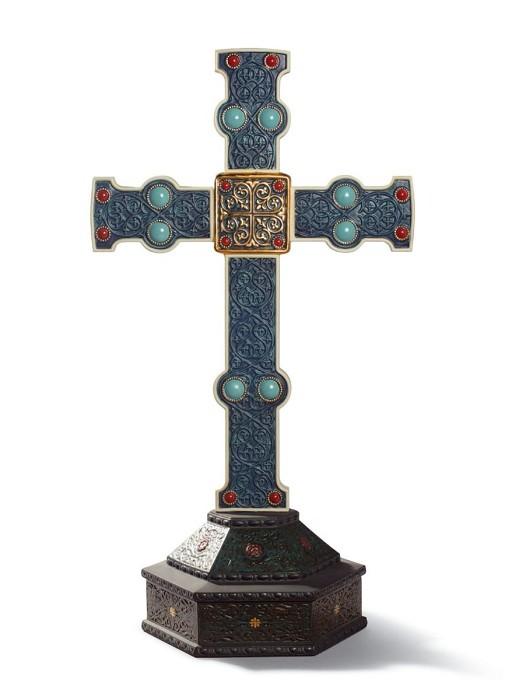 LladroRomanesque CrossPorcelain Figurine
