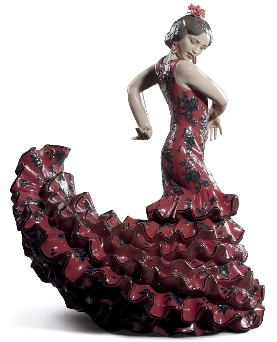 Lladro Flamenco Flair Woman Porcelain Figurine
