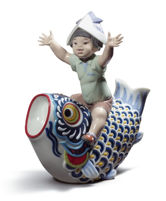 Lladro Happy Boy's Day Porcelain Figurine