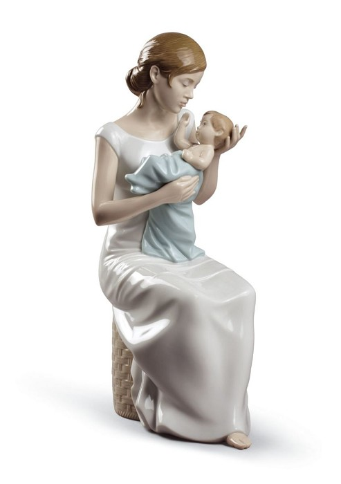 Lladro Soothing Lullaby Mixed Media Sculpture