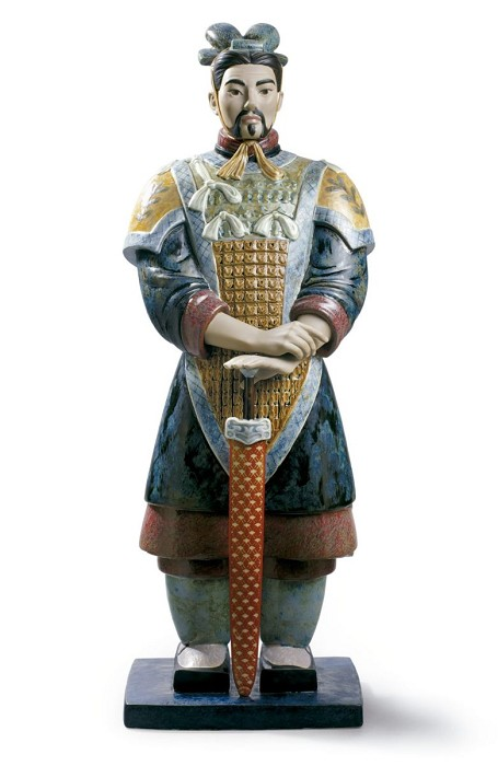 LladroXian WarriorPorcelain Figurine