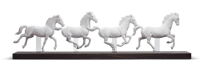 Lladro GALLOPING HERD
