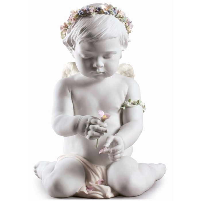 Lladro Cherub of Our Love Angel Porcelain Figurine