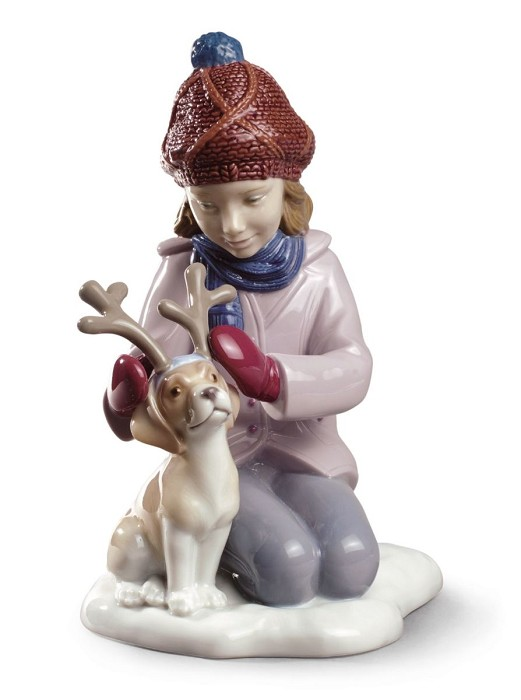 LladroMy Little ReindeerPorcelain Figurine