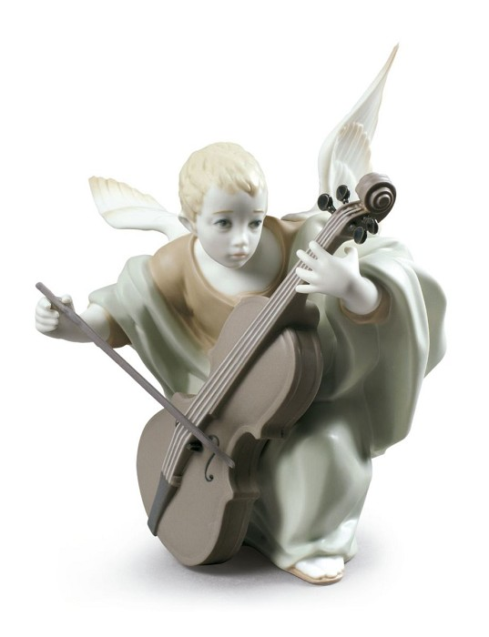 LladroHeavenly CellistPorcelain Figurine