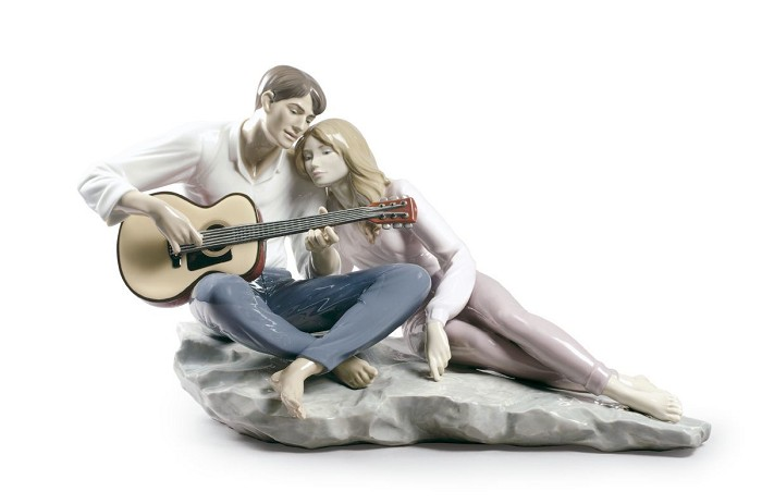 Lladro Our Song Porcelain Figurine