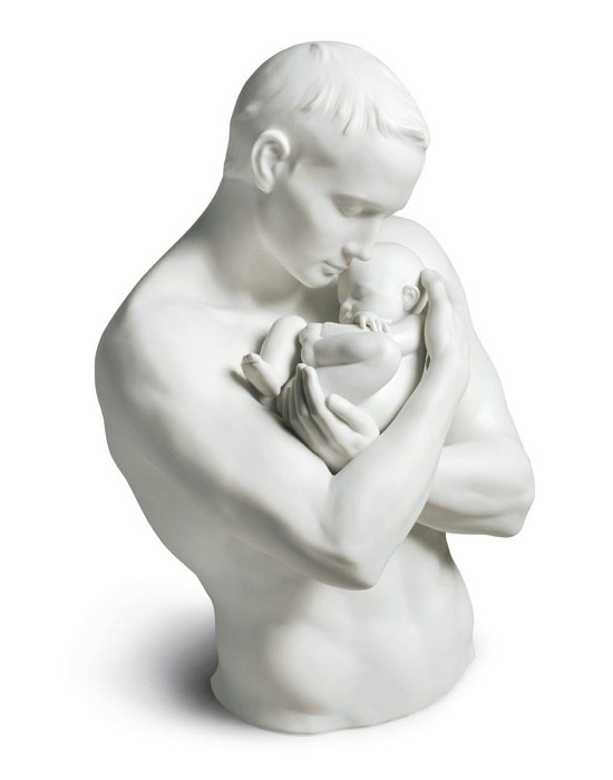 Lladro Paternal Protection Porcelain Figurine