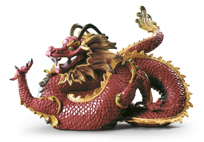 LladroMajestic DragonMixed Media Sculpture