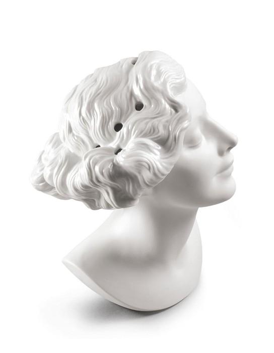 LladroDaisy Woman Bust VasePorcelain Figurine