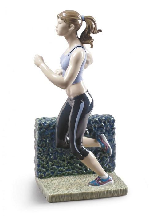 LladroRunningPorcelain Figurine
