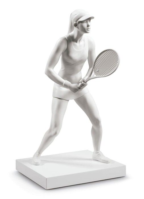 Lladro Lady Tennis Player Porcelain Figurine