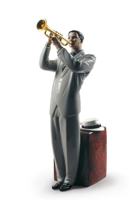 LladroJazz TrumpeterPorcelain Figurine