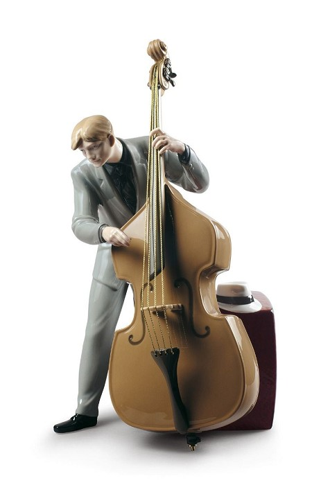 Lladro Jazz Bassist