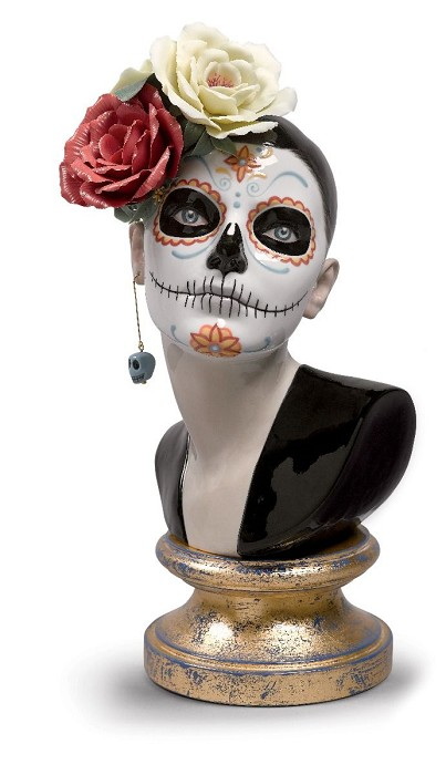 Lladro Beautiful Catrina Porcelain Figurine