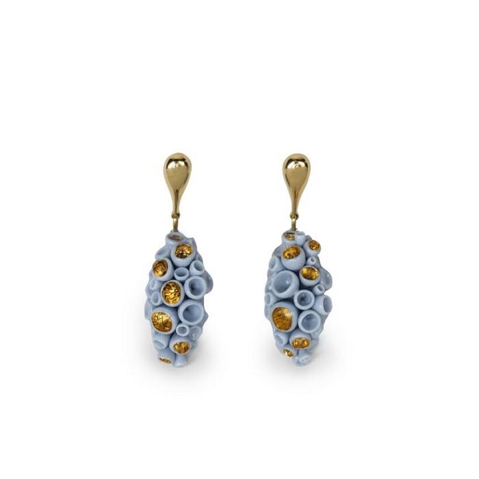 Lladro JewelryGolden Blue Reef Long Earrings
