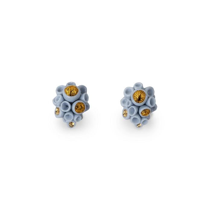Lladro JewelryGolden Blue Reef Stud Earrings