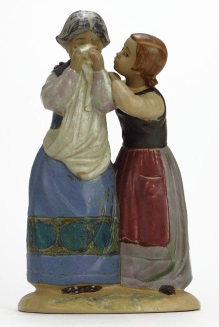 Lladro Comforting Her Friend Porcelain Figurine