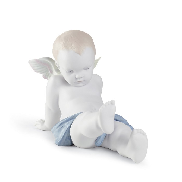 Lladro SITTING ON THE CLOUDS Porcelain Figurine
