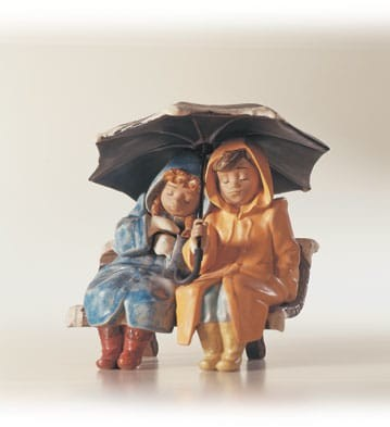 LladroSnowy SundayPorcelain Figurine