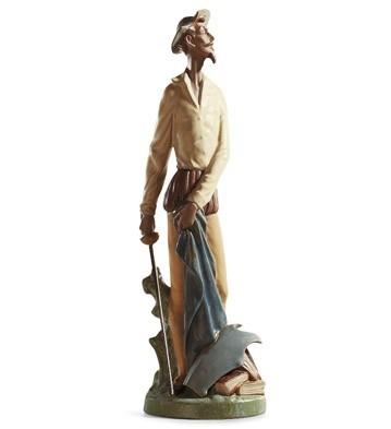 LladroQUIXOTE STANDING UPPorcelain Figurine