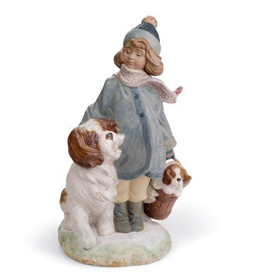 Lladro WINTER WIND Porcelain Figurine