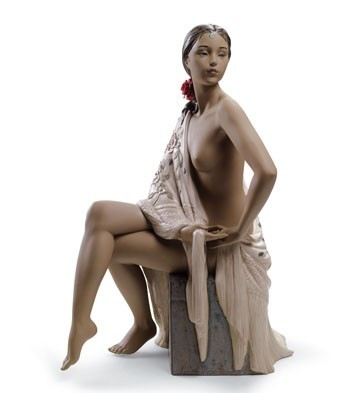 Lladro NUDE WITH SHAWL Porcelain Figurine