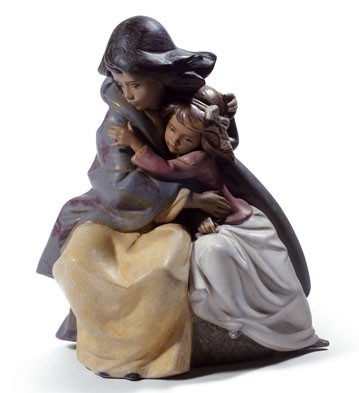 Lladro SISTERLY LOVE Porcelain Figurine