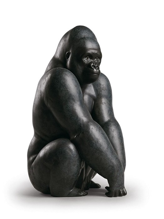 LladroGorillaPorcelain Figurine