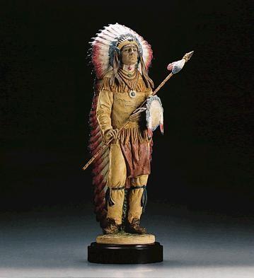 LladroPROUD WARRIORPorcelain Figurine
