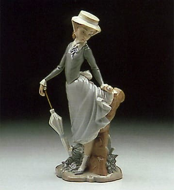 Lladro Young Lady in Trouble Porcelain Figurine
