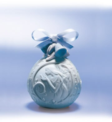 Lladro 2001 Christmas Ball Porcelain Figurine