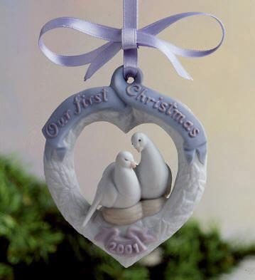 LladroOur First Christmas 2001 OrnamentPorcelain Figurine