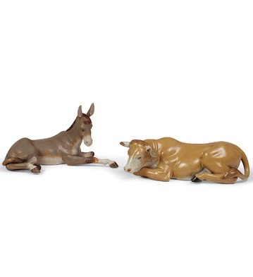 Lladro ANIMALS AT BETHLEHEM SET