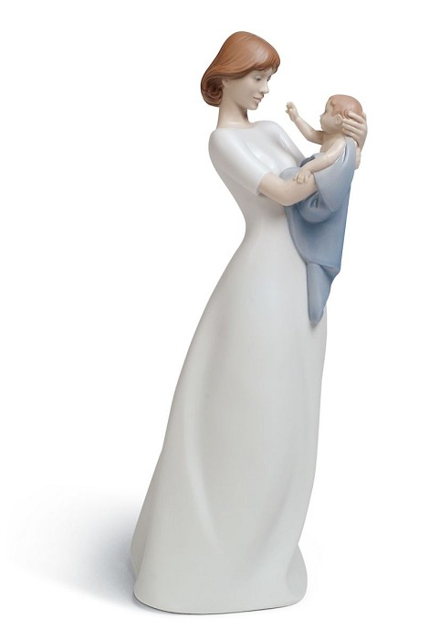 Lladro A Mother's Treasure Porcelain Figurine