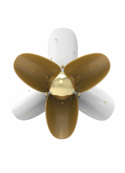 Lladro LightingBlossom Wall Sconce White and gold