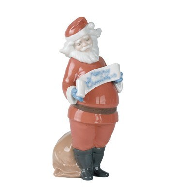 Nao Porcelain SANTA'S BEST WISHES