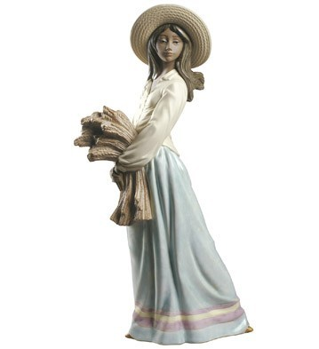 Nao Porcelain WOMAN WITH WHEAT