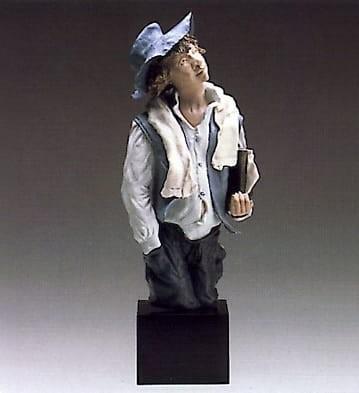 LladroSchool BoyGoyesca Porcelain Figurine