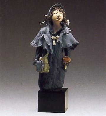 LladroSchool GirlGoyesca Porcelain Figurine