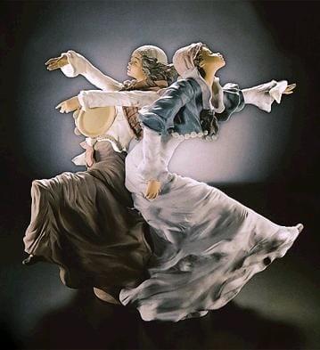 LladroGypsy DancersGoyesca Porcelain Figurine