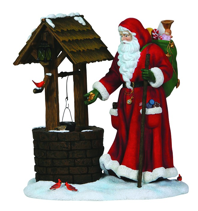 Pipka Wishing Well Santa