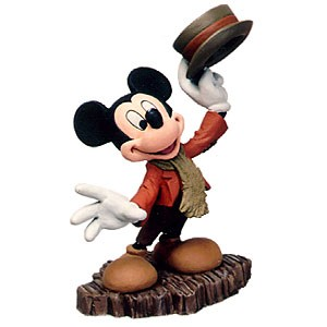 WDCC Disney Classics Mickey Christmas Carol Mickey Mouse And A Merry Christmas To You Ornament