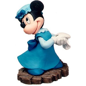 WDCC Disney Classics Mickey Christmas Carol  Minnie Mouse Ornament Mrs Cratchit Ornament
