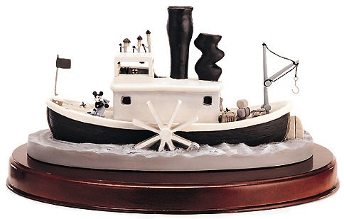 WDCC Disney Classics Steam Boat Willie Steamboat