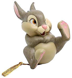 WDCC Disney Classics Bambi Thumper Belly Laugh Ornament